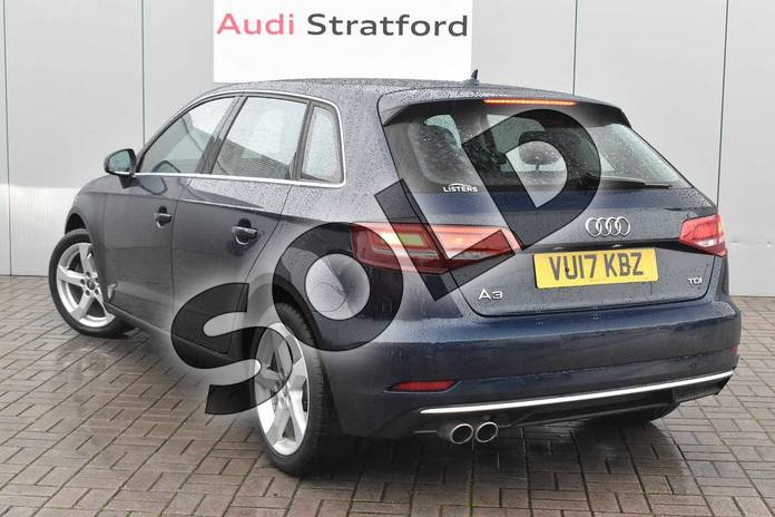 Image three of this 2017 Audi A3 Diesel Sportback 2.0 TDI Sport 5dr S Tronic in Cosmos blue, metallic at Stratford Audi