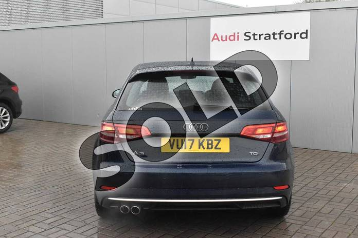 Image nine of this 2017 Audi A3 Diesel Sportback 2.0 TDI Sport 5dr S Tronic in Cosmos blue, metallic at Stratford Audi