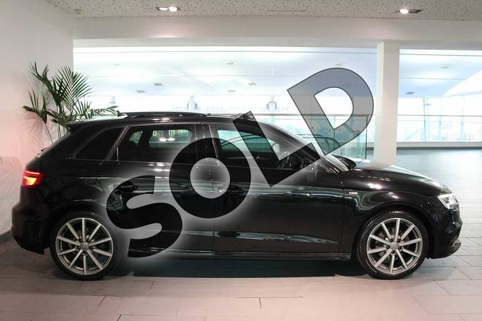 Image seven of this 2017 Audi A3 Sportback Special Editions 1.4 TFSI Black Edition 5dr in Myth Black Metallic at Worcester Audi