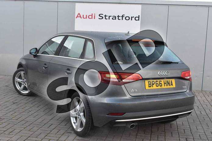 Image three of this 2013 Audi A3 Diesel Sportback 1.6 TDI Sport 5dr in Monsoon Grey Metallic at Stratford Audi