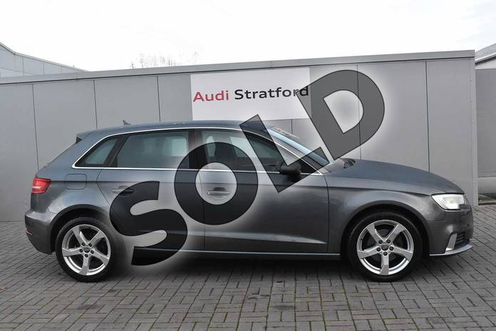Image four of this 2013 Audi A3 Diesel Sportback 1.6 TDI Sport 5dr in Monsoon Grey Metallic at Stratford Audi