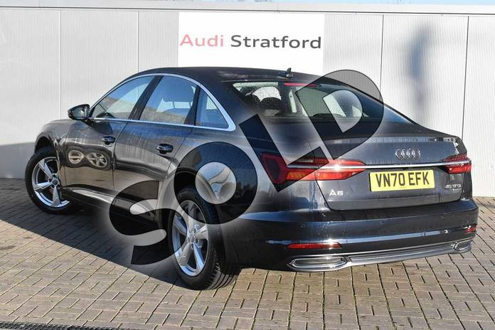 Image three of this 2020 Audi A6 Saloon 45 TFSI Quattro Sport 4dr S Tronic in Firmament Blue Metallic at Stratford Audi