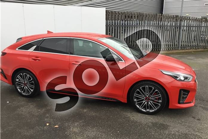 Image three of this 2019 Kia PRO Ceed Shooting Brake 1.6T GDi ISG GT 5dr DCT in Solid - Track red at Listers U Solihull