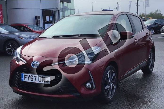 Image three of this 2017 Toyota Yaris Hatchback 1.5 Hybrid Excel 5dr CVT in Tokyo Red at Listers Toyota Lincoln