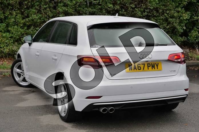 Image three of this 2017 Audi A3 Sportback 1.5 TFSI Sport 5dr S Tronic in Glacier White Metallic at Worcester Audi