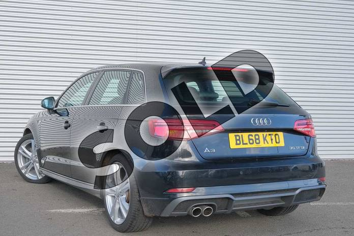 Image three of this 2018 Audi A3 Sportback 35 TFSI S Line 5dr S Tronic in Myth Black Metallic at Coventry Audi
