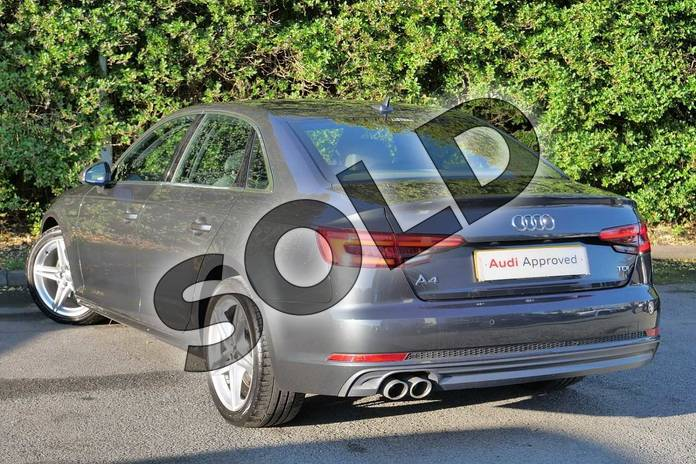 Image three of this 2016 Audi A4 Diesel Saloon 2.0 TDI 190 S Line 4dr in Manhattan Grey Metallic at Worcester Audi