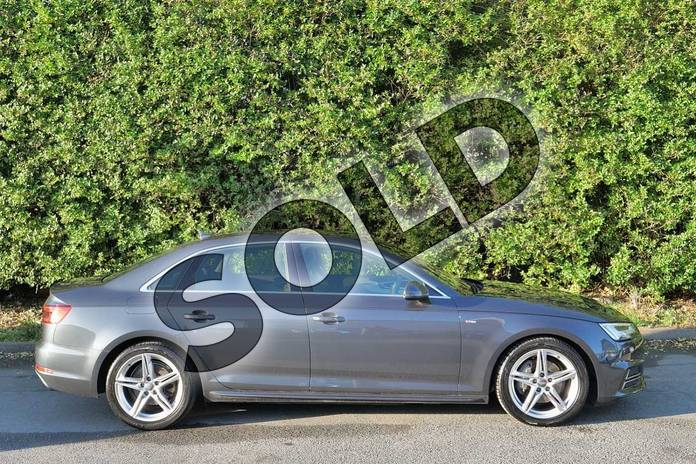 Image four of this 2016 Audi A4 Diesel Saloon 2.0 TDI 190 S Line 4dr in Manhattan Grey Metallic at Worcester Audi