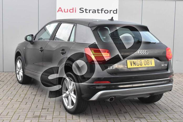 Image three of this 2018 Audi Q2 Diesel Estate 30 TDI S Line 5dr in Myth Black Metallic at Stratford Audi
