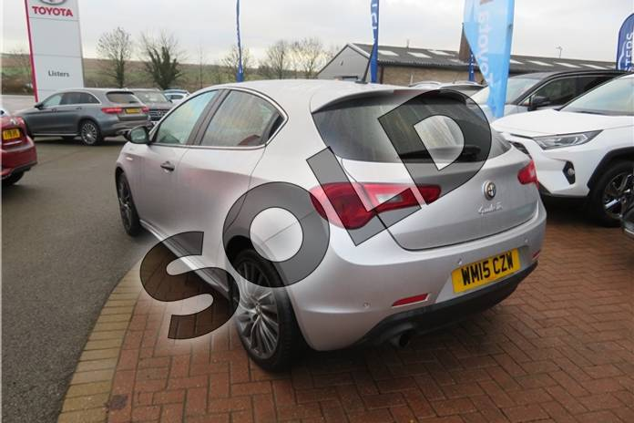 Image five of this 2015 Alfa Romeo Giulietta Hatchback 1.4 TB MultiAir QV Line 5dr TCT in Metallic - Alfa silver at Listers Toyota Grantham