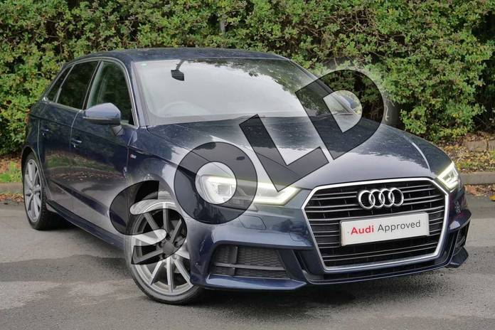 Picture of Audi A3 1.6 TDI S Line 5dr in Cosmos blue, metallic
