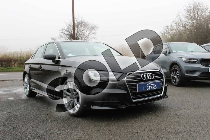 Image two of this 2016 Audi A3 Saloon 1.4 TFSI S Line 4dr in Myhtos Black at Listers Volvo Worcester