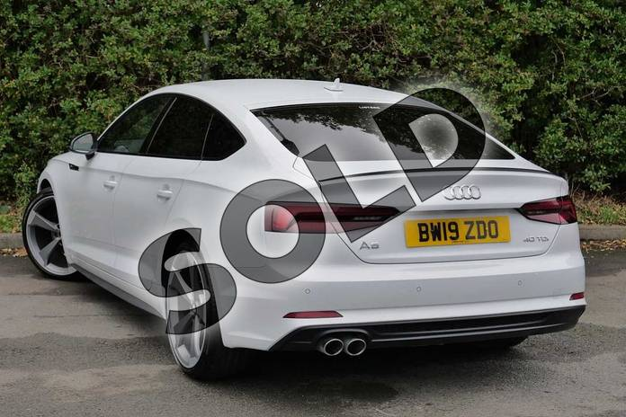 Image three of this 2019 Audi A5 Diesel Sportback 40 TDI Black Edition 5dr S Tronic in Glacier White Metallic at Worcester Audi