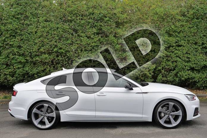 Image four of this 2019 Audi A5 Diesel Sportback 40 TDI Black Edition 5dr S Tronic in Glacier White Metallic at Worcester Audi