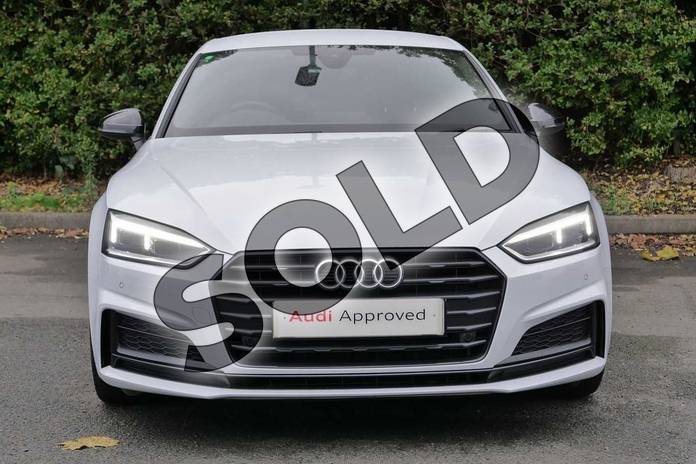 Image seven of this 2019 Audi A5 Diesel Sportback 40 TDI Black Edition 5dr S Tronic in Glacier White Metallic at Worcester Audi