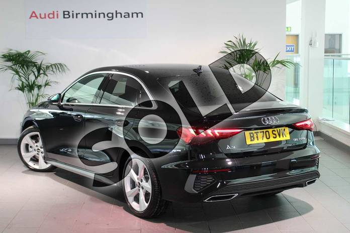 Image three of this 2020 Audi A3 Saloon 35 TFSI S line 4dr S Tronic in Myth Black Metallic at Birmingham Audi