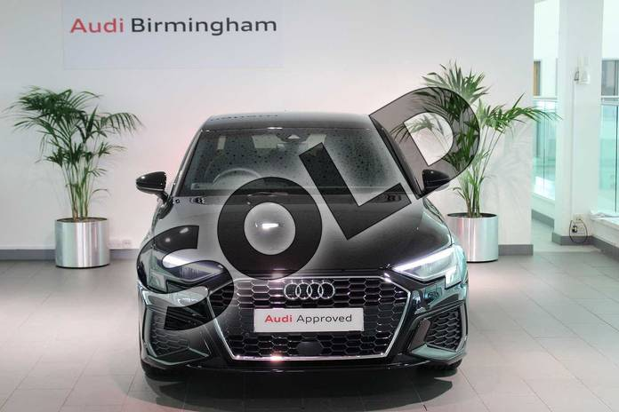 Image seven of this 2020 Audi A3 Saloon 35 TFSI S line 4dr S Tronic in Myth Black Metallic at Birmingham Audi