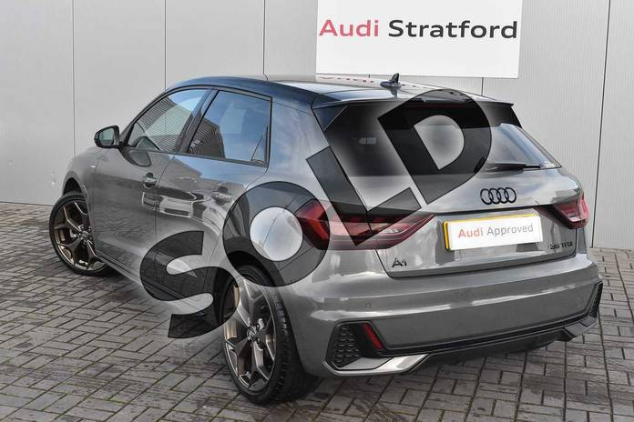 Image three of this 2019 Audi A1 Sportback Special Editions 35 TFSI S Line Style Edition 5dr S Tronic in Chronos Grey Metallic at Stratford Audi