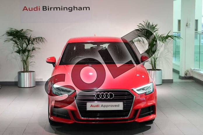 Image seven of this 2016 Audi A3 Sportback 1.4 TFSI S Line 5dr in Tango Red Metallic at Birmingham Audi