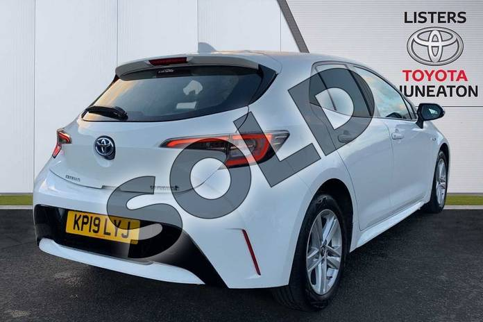 Image two of this 2019 Toyota Corolla Hatchback 1.8 VVT-i Hybrid Icon 5dr CVT in White at Listers Toyota Nuneaton