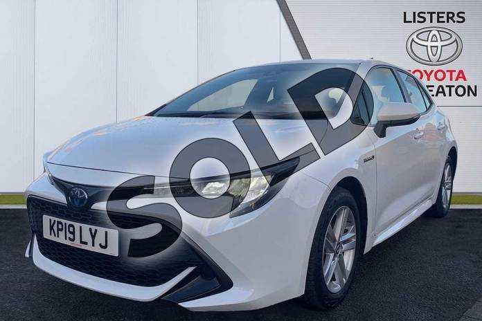 Image three of this 2019 Toyota Corolla Hatchback 1.8 VVT-i Hybrid Icon 5dr CVT in White at Listers Toyota Nuneaton