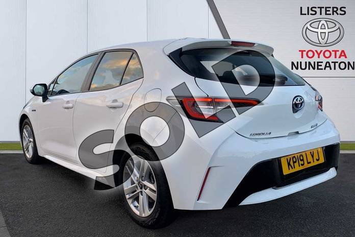 Image four of this 2019 Toyota Corolla Hatchback 1.8 VVT-i Hybrid Icon 5dr CVT in White at Listers Toyota Nuneaton