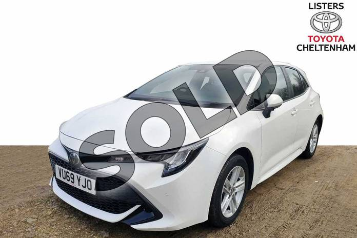 Image three of this 2019 Toyota Corolla Hatchback 1.2T VVT-i Icon Tech 5dr in Pure White at Listers Toyota Cheltenham
