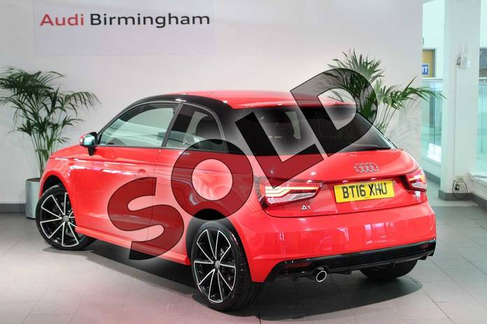 Image three of this 2016 Audi A1 Hatchback Special Editions 1.6 TDI Black Edition 3dr in Misano Red Pearlescent at Birmingham Audi