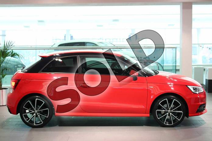Image four of this 2016 Audi A1 Hatchback Special Editions 1.6 TDI Black Edition 3dr in Misano Red Pearlescent at Birmingham Audi
