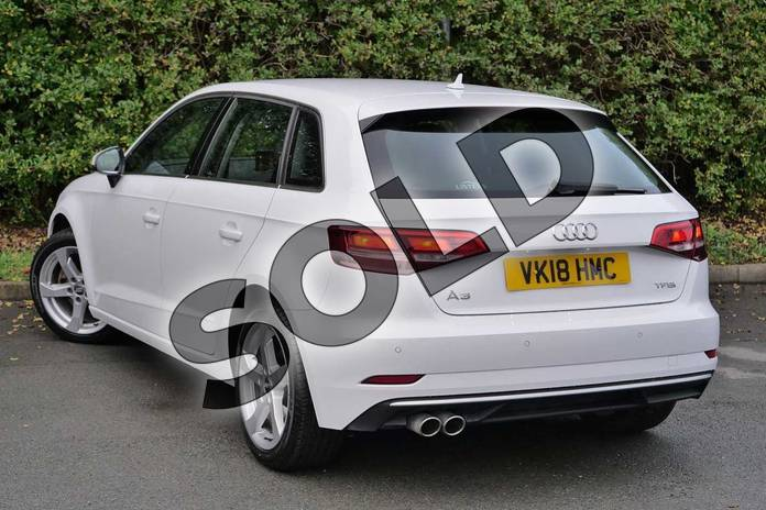 Image three of this 2018 Audi A3 Sportback 1.5 TFSI Sport 5dr S Tronic in Ibis White at Worcester Audi