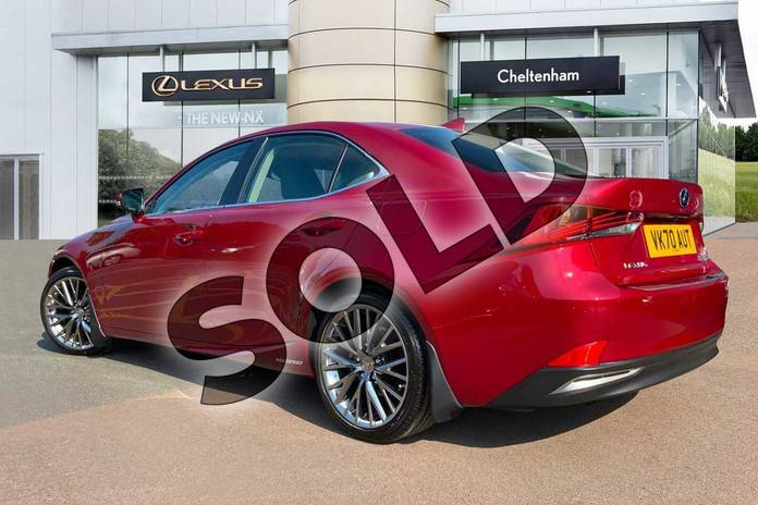 Image three of this 2020 Lexus IS Saloon 300h 4dr CVT Auto in Red at Lexus Cheltenham