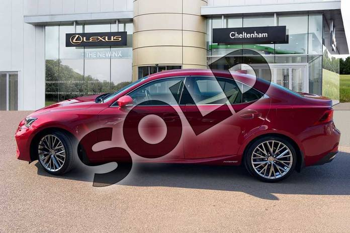 Image five of this 2020 Lexus IS Saloon 300h 4dr CVT Auto in Red at Lexus Cheltenham