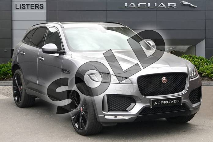 Picture of Jaguar F-PACE 2.0d (180) Chequered Flag 5dr Auto AWD in Eiger Grey