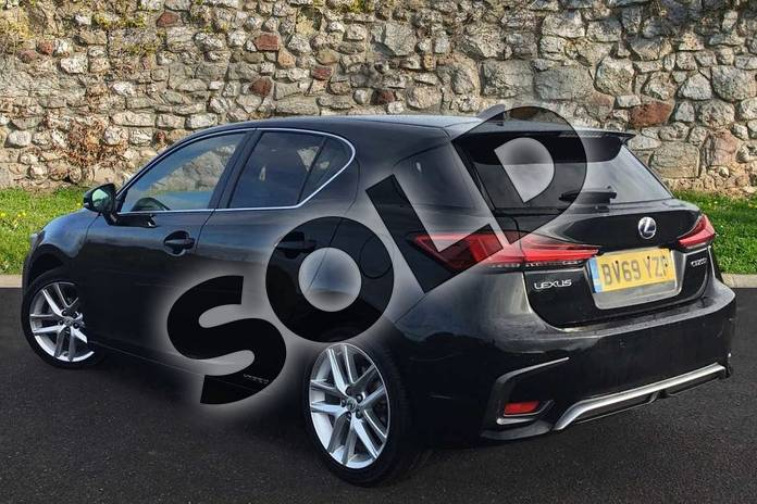 Image two of this 2019 Lexus CT Hatchback 200h 1.8 5dr CVT in Velvet Black at Lexus Coventry