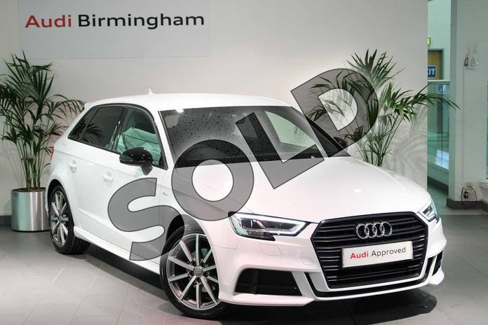 Picture of Audi A3 1.5 TFSI Black Edition 5dr S Tronic in Glacier White Metallic