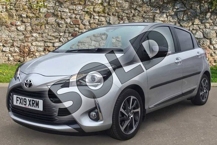 Image three of this 2019 Toyota Yaris Hatchback 1.5 VVT-i Y20 5dr CVT (Bi-tone) in Tyrol Silver at Listers Toyota Boston