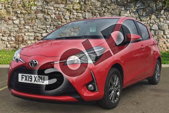 Image three of this 2019 Toyota Yaris Hatchback 1.0 (72) VVT-i Icon 5dr in Chilli Red at Listers Toyota Boston