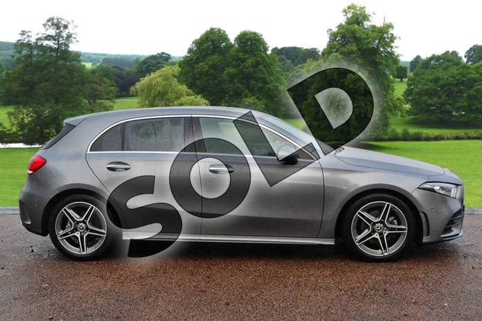 Image four of this 2021 Mercedes-Benz A Class Diesel Hatchback A200d AMG Line Premium 5dr Auto in Mountain Grey Metallic at Mercedes-Benz of Grimsby