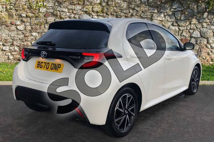 Image two of this 2020 Toyota Yaris Hatchback 1.5 Hybrid Design 5dr CVT in White at Listers Toyota Coventry