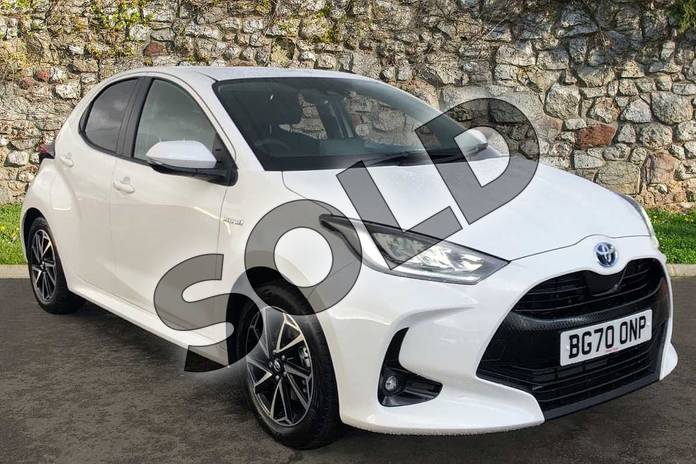 Image three of this 2020 Toyota Yaris Hatchback 1.5 Hybrid Design 5dr CVT in White at Listers Toyota Coventry