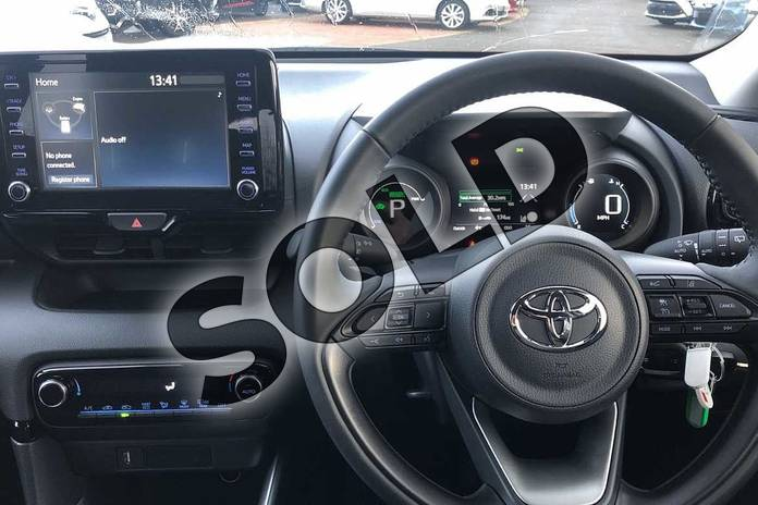 Image six of this 2020 Toyota Yaris Hatchback 1.5 Hybrid Design 5dr CVT in White at Listers Toyota Coventry