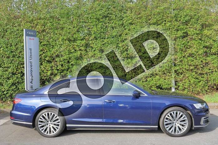 Image four of this 2018 Audi A8 Saloon 55 TFSI Quattro 4dr Tiptronic in Navarra Blue Metallic at Worcester Audi