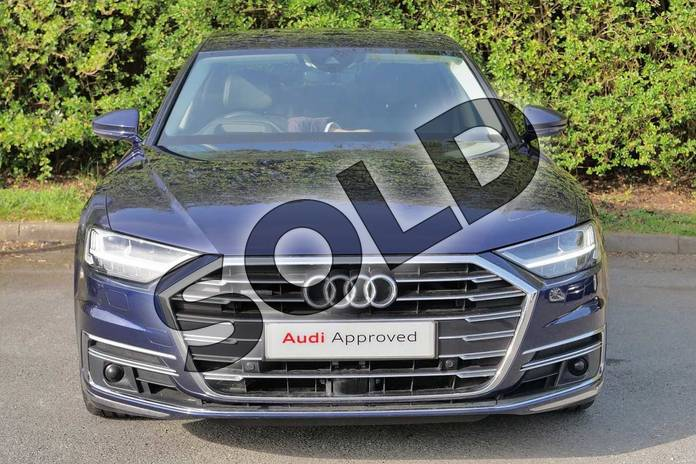 Image seven of this 2018 Audi A8 Saloon 55 TFSI Quattro 4dr Tiptronic in Navarra Blue Metallic at Worcester Audi