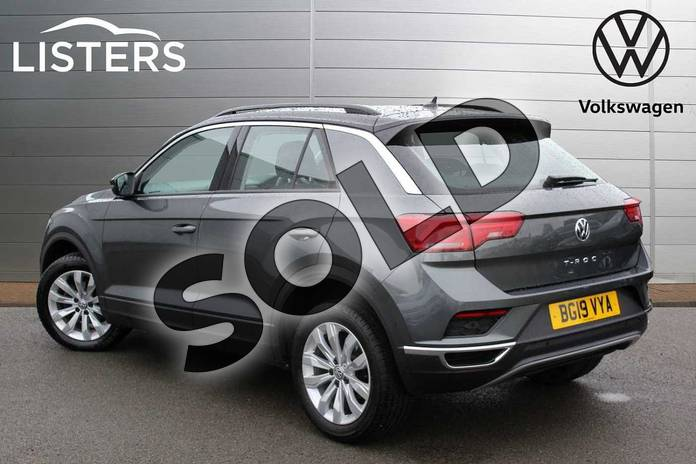 Image three of this 2019 Volkswagen T-Roc Hatchback 1.5 TSI EVO SE 5dr DSG in Indium Grey Black Roof at Listers Volkswagen Nuneaton