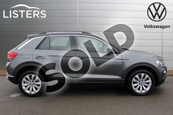 Image four of this 2019 Volkswagen T-Roc Hatchback 1.5 TSI EVO SE 5dr DSG in Indium Grey Black Roof at Listers Volkswagen Nuneaton