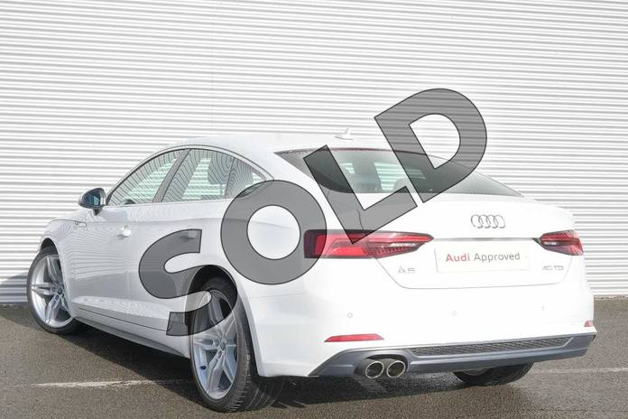Image three of this 2018 Audi A5 Diesel Sportback 40 TDI S Line 5dr S Tronic in Ibis White at Coventry Audi