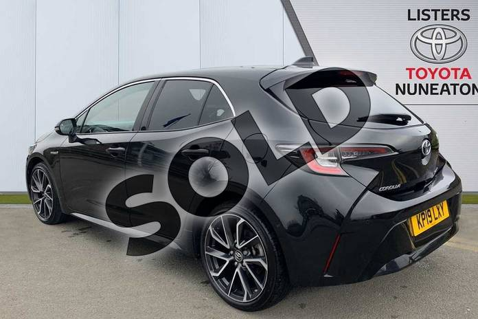 Image four of this 2019 Toyota Corolla Hatchback 1.8 VVT-i Hybrid Excel 5dr CVT in Black at Listers Toyota Nuneaton