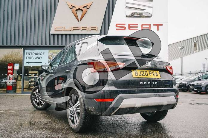 Image three of this 2020 SEAT Arona Hatchback 1.0 TSI 115 Xcellence (EZ) 5dr DSG in Black at Listers SEAT Coventry