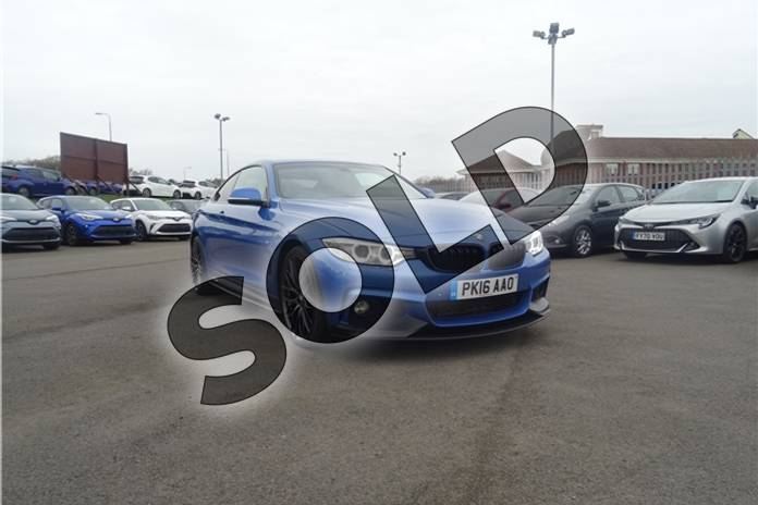 Image two of this 2016 BMW 4 Series Diesel Coupe 435d xDrive M Sport 2dr Auto (Professional Media) in Individual paint - Tanzanite blue at Listers Toyota Lincoln