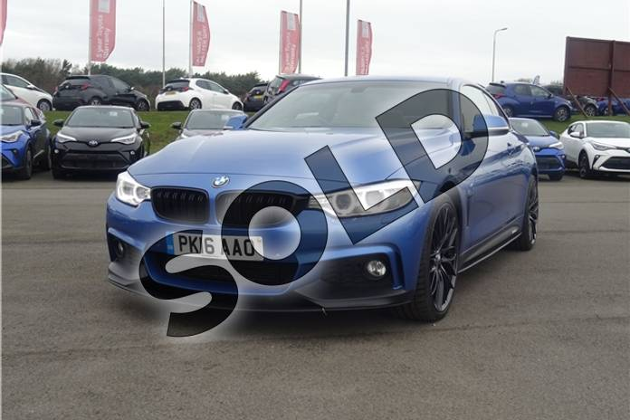 Image four of this 2016 BMW 4 Series Diesel Coupe 435d xDrive M Sport 2dr Auto (Professional Media) in Individual paint - Tanzanite blue at Listers Toyota Lincoln